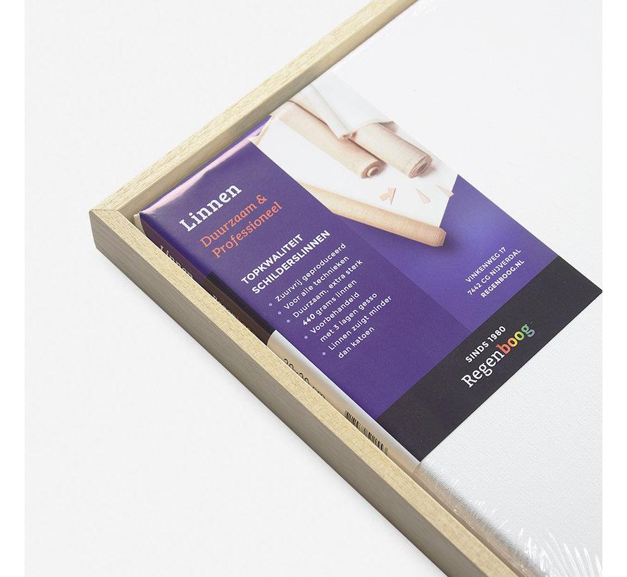 Baklijst blank + linnen schildersdoek 21mm combideal