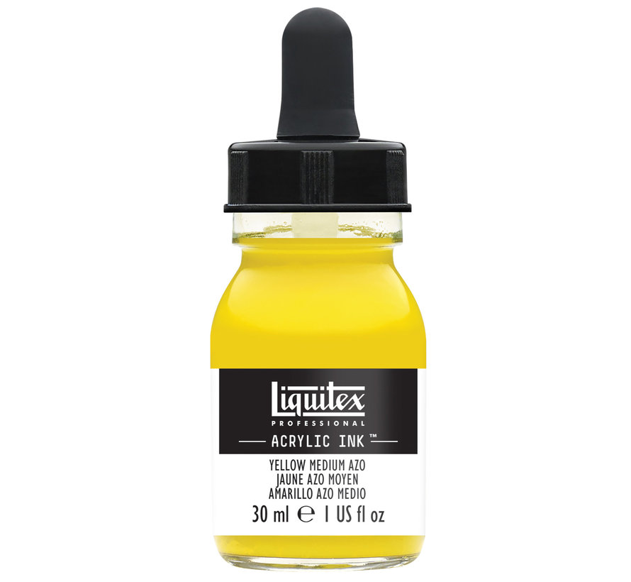 Ink! acrylinkt 30ml Yellow Medium Azo