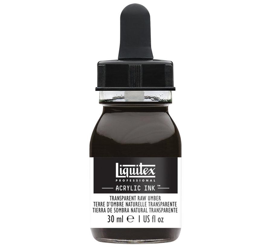 Ink! acrylinkt 30ml Transparent Raw Umber