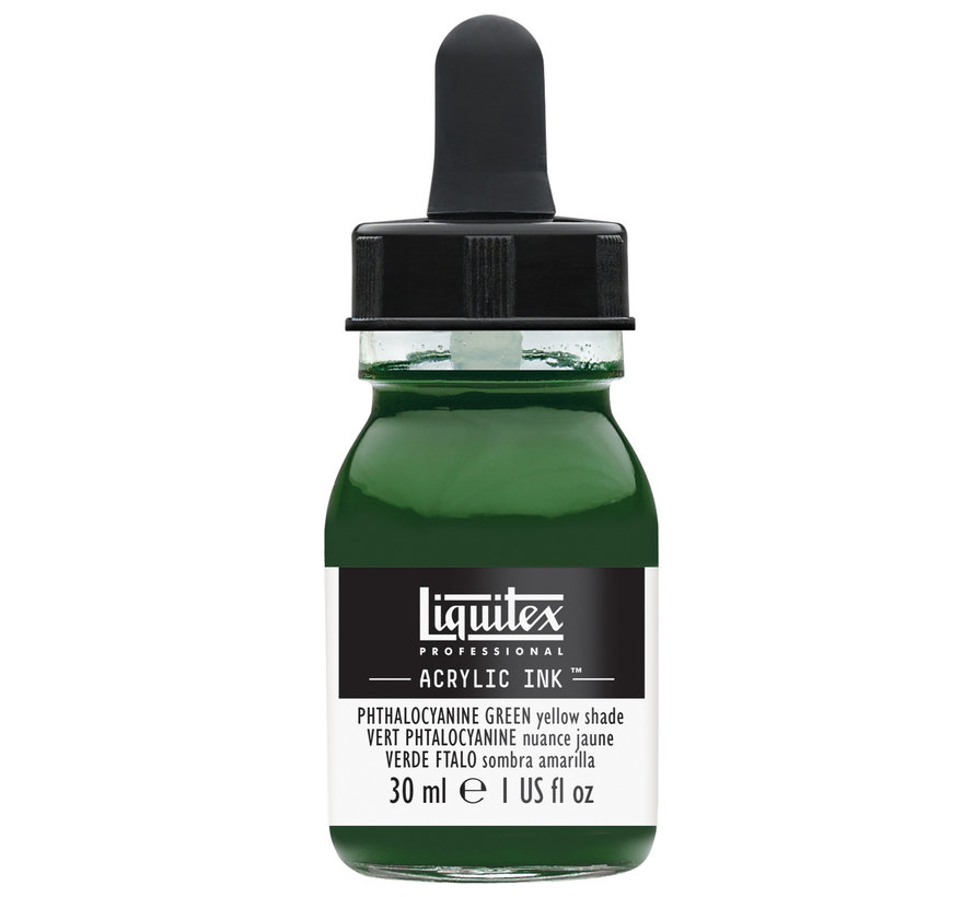 Ink! acrylinkt 30ml Phthalo Green (Yellow shade)