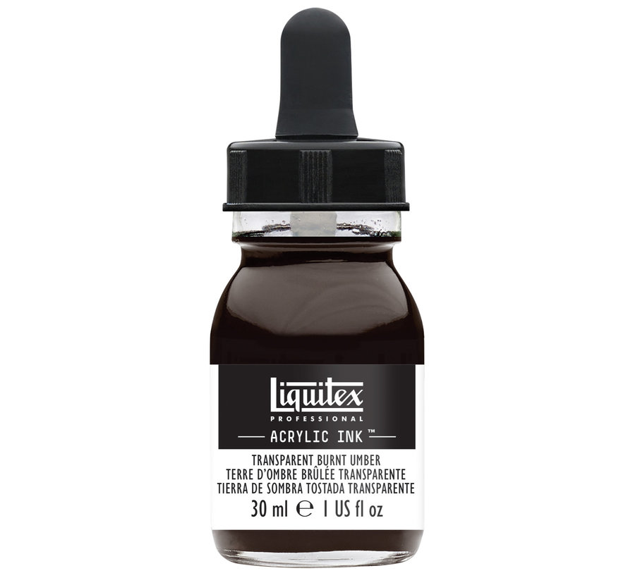 Ink! acrylinkt 30ml Transparent Burnt Umber