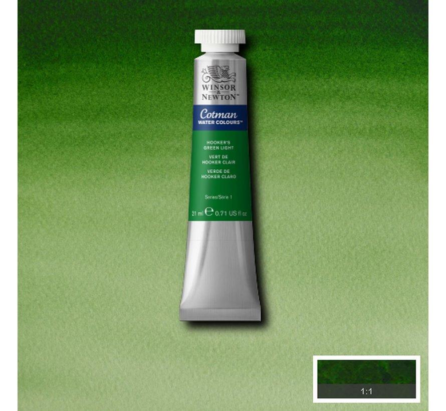 Cotman aquarelverf 21ml Hookers Green Light