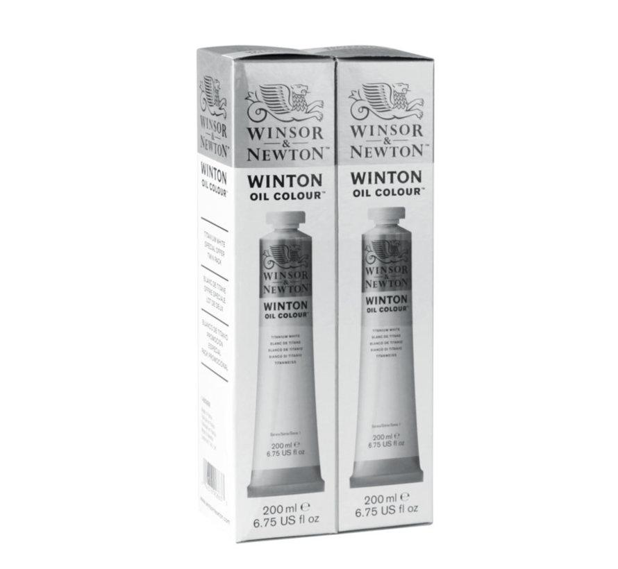Winton 200ml x 2 duopack titaanwit