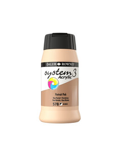 Daler & Rowney System 3 Acrylverf 500ml Portrait Pink 580