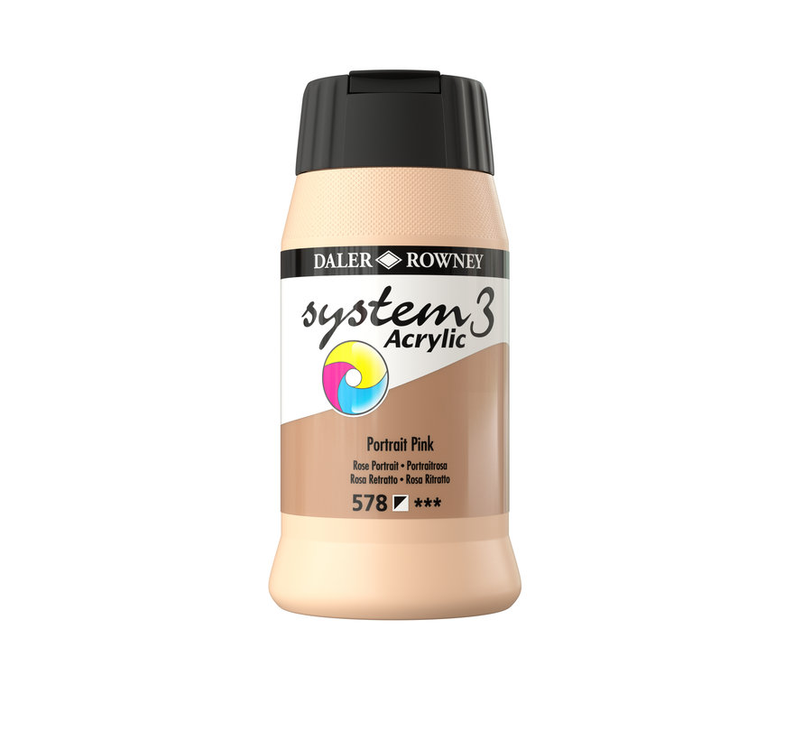 System 3 Acrylverf 500ml Portrait Pink 580