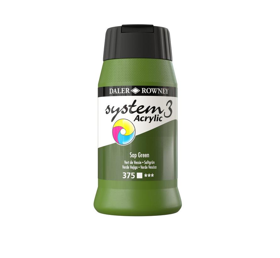 System 3 Acrylverf 500ml Sap Green 375
