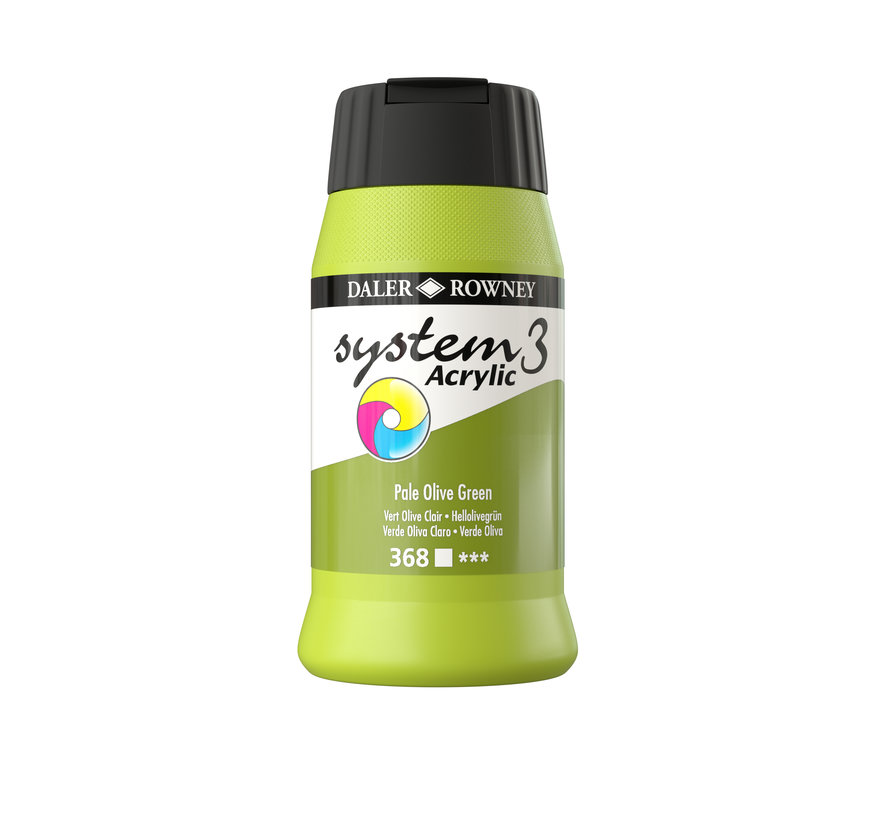 System 3 Acrylverf 500ml Pale Olive Green 368