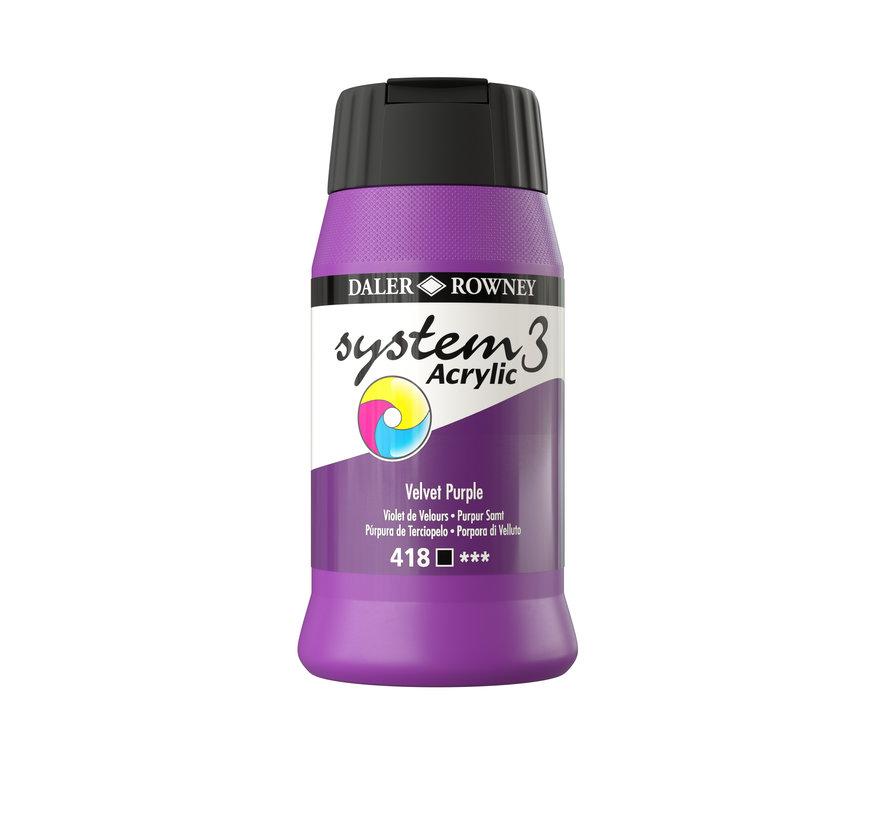 System 3 Acrylverf 500ml Velvet Purple 418