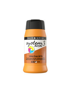 Daler & Rowney System 3 Acrylverf 500ml Cadmium Orange  Light (Hue) 638
