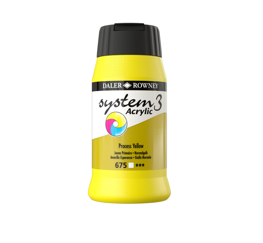 System 3 Acrylverf 500ml Process Yellow 675