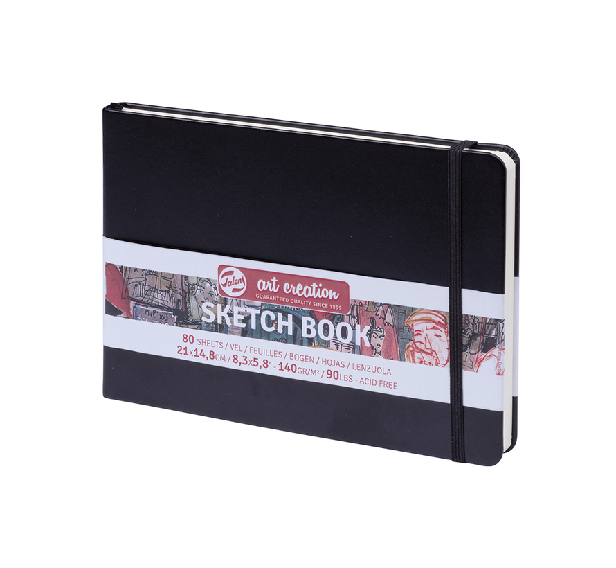 Schetsboek zwart 21 x 14.8