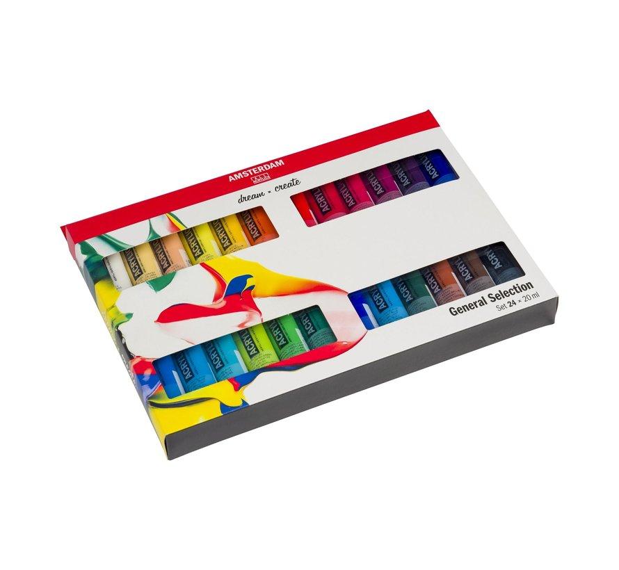 Standard Series Acrylics Algemene selectieSet24× 20 ml