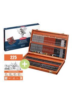 Derwent Sketching kist 72 potloden + gratis blok
