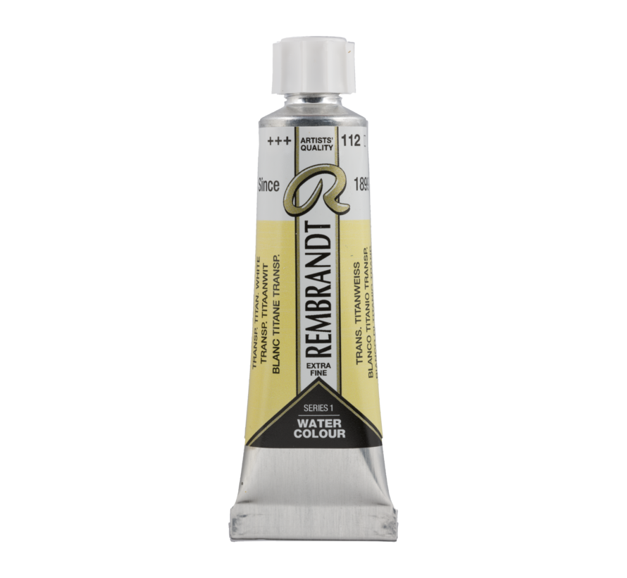 Aquarelverf 10 ml Transparant Titaanwit 112