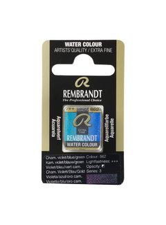 Rembrandt Aquarelverf Napje Kameleon Violet Blauw Groen 862