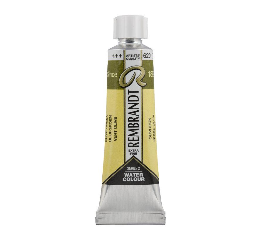 Aquarelverf 10 ml Olijfgroen 620