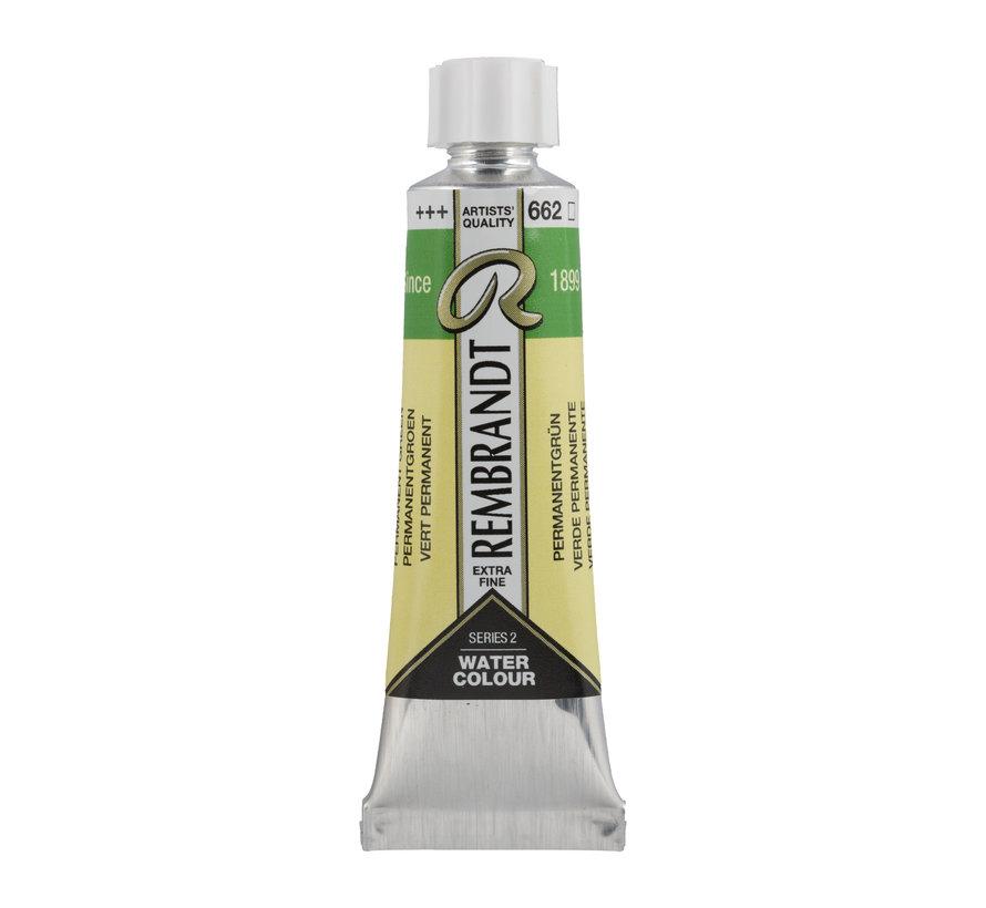 Aquarelverf 10 ml Permanentgroen 662