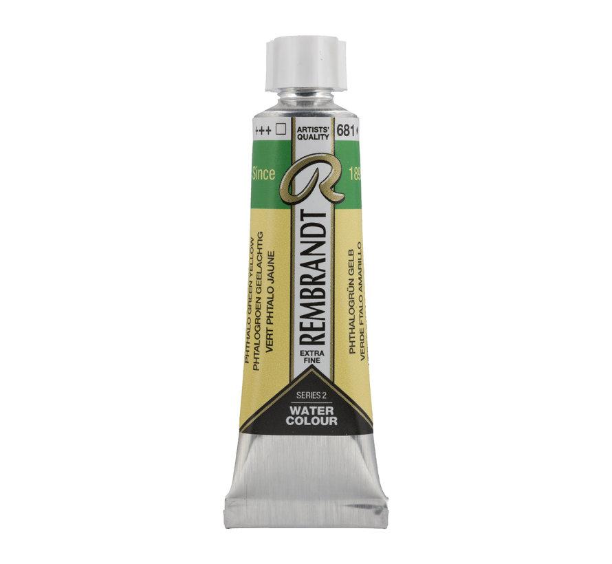Aquarelverf 10 ml Phtalogroen Geelachtig 681