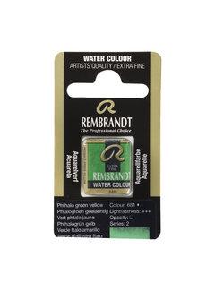 Rembrandt Aquarelverf Napje Phtalogroen Geelachtig 681