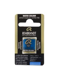 Rembrandt Aquarelverf Napje Ceruleumblauw Groenachtig 598