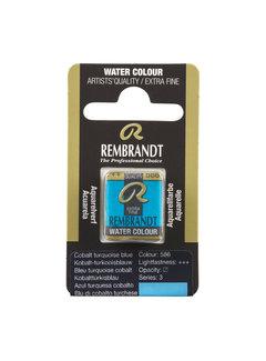 Rembrandt Aquarelverf Napje Kobalt-Turkooisblauw 586