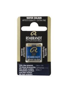 Rembrandt Aquarelverf Napje Phtaloblauw Groenachtig 576