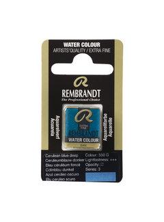 Rembrandt Aquarelverf Napje Ceruleumblauw Donker 550