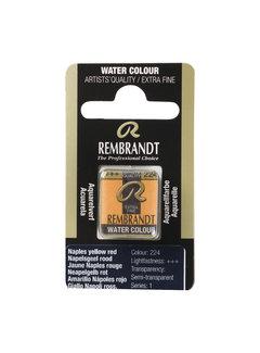 Rembrandt Aquarelverf Napje Napelsgeel Rood 224
