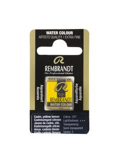 Rembrandt Aquarelverf Napje Cadmiumgeel Citroen 207