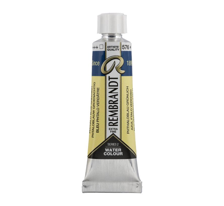 Aquarelverf 10 ml Phtaloblauw Groenachtig 576
