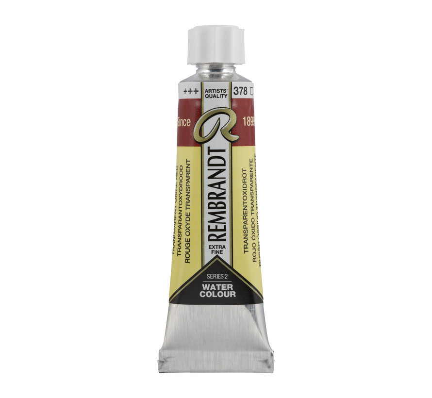 Aquarelverf 10 ml Transparantoxyd Rood 378
