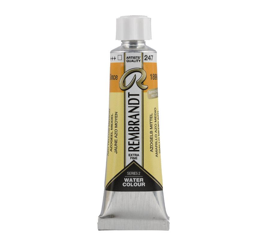Aquarelverf 10 ml Azogeel Middel Cadmiumvrij 247