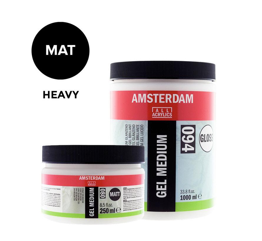 Heavy gel medium Mat pot 020