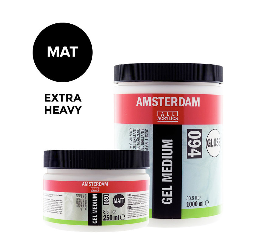 Extra heavy gel medium Mat pot 021