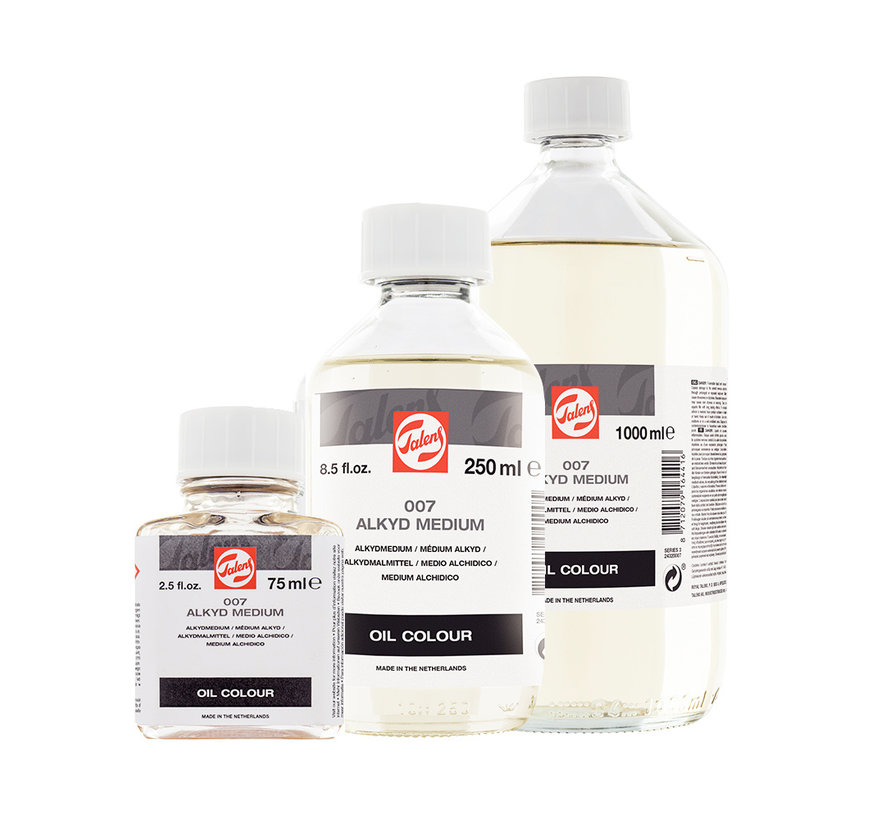 Alkyd (glaceer)medium fles 007