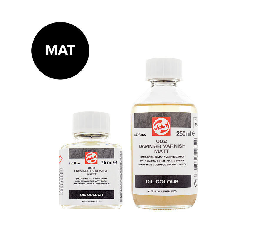 Damar (slot)vernis Mat fles 082