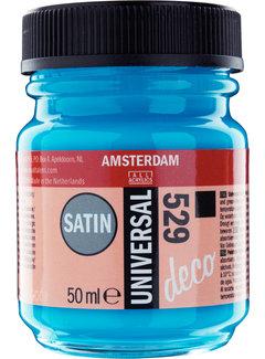 Amsterdam Universal Satin Fles 50 ml Mediteraanblauw 529