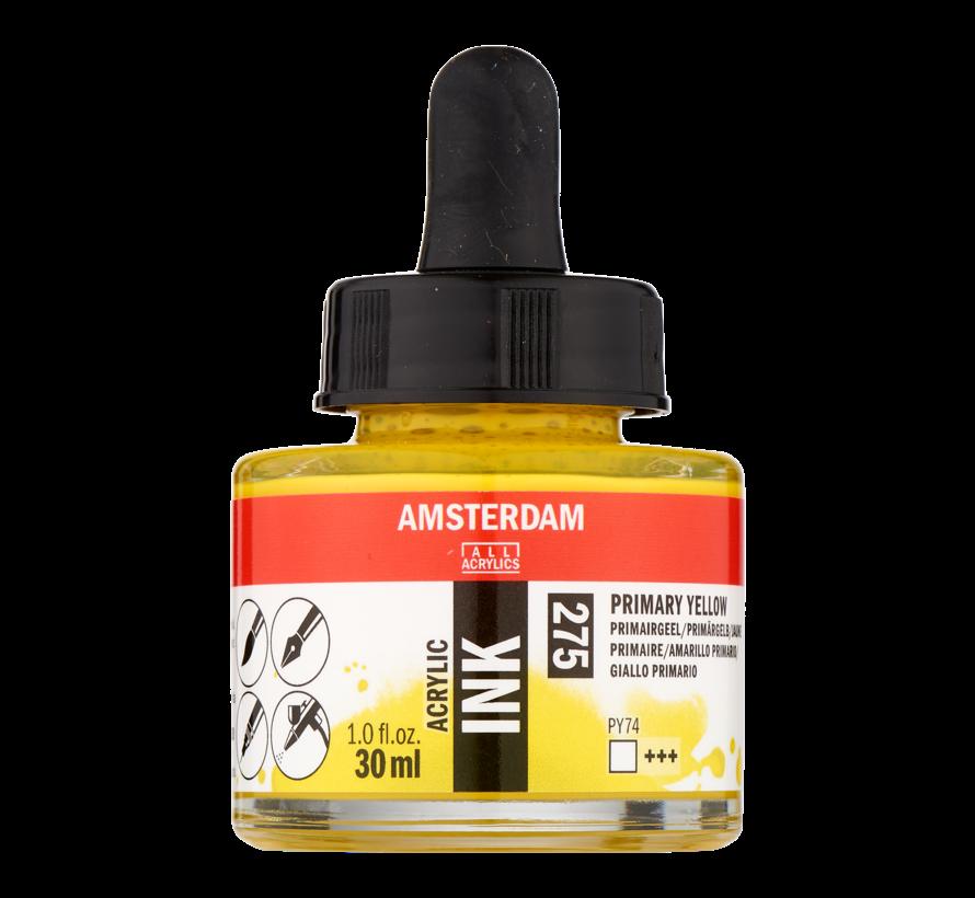 Acrylic Inkt Fles 30 ml Primairgeel 275