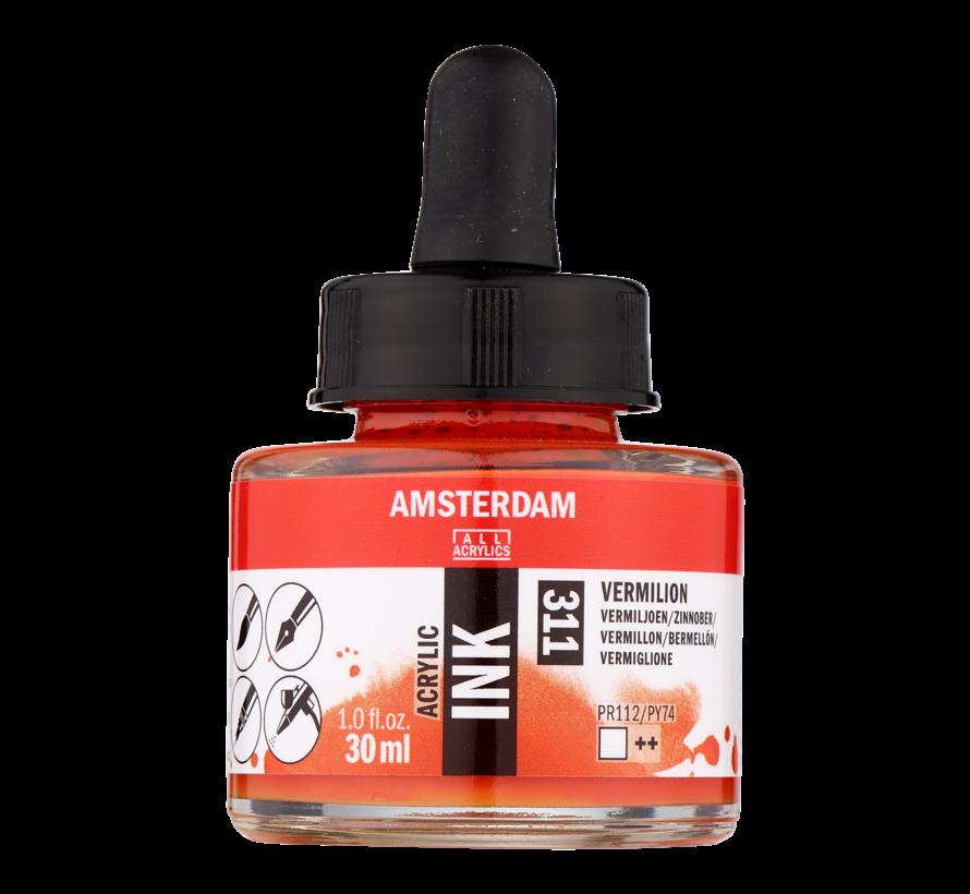 Acrylic Inkt Fles 30 ml Vermiljoen 311