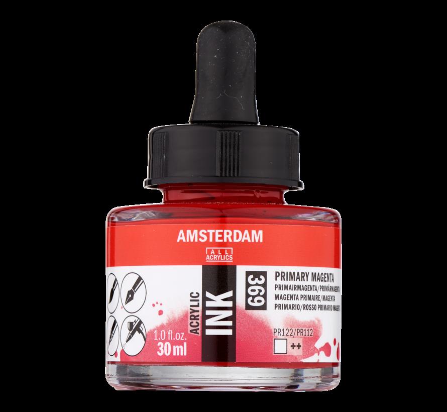 Acrylic Inkt Fles 30 ml Primairmagenta 369