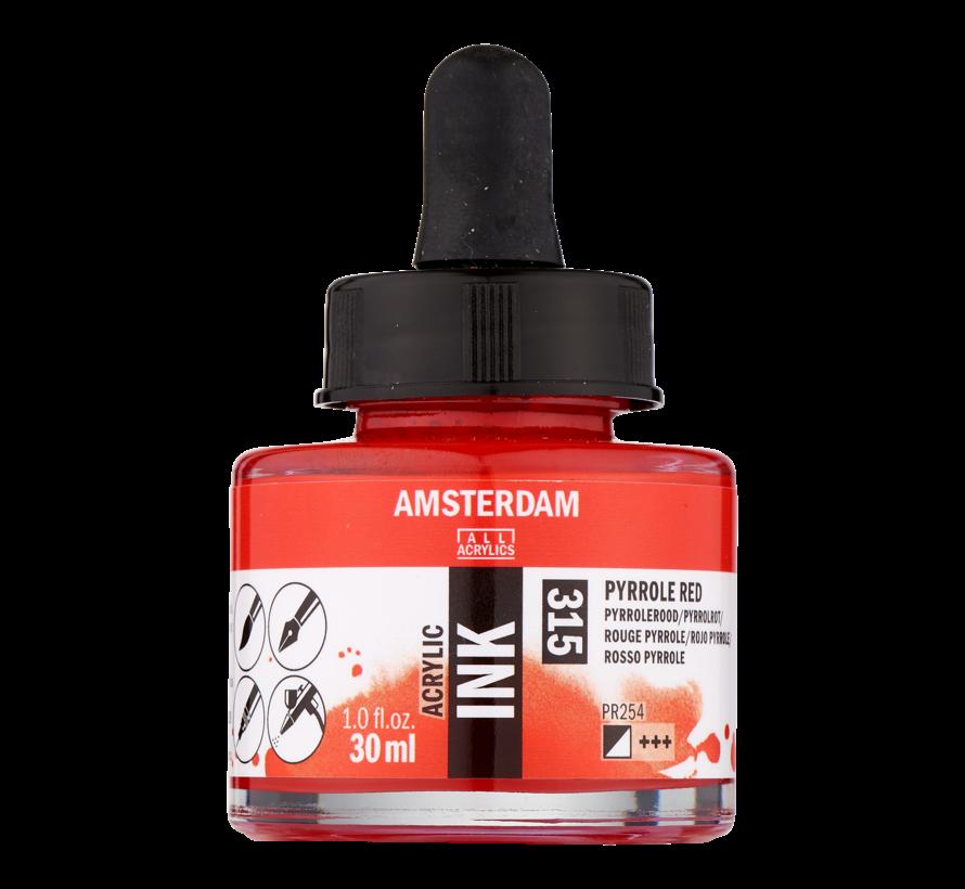 Acrylic Inkt Fles 30 ml Pyrrolerood 315