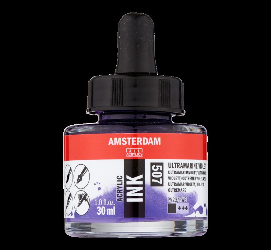 Acrylic Inkt Fles 30 ml Ultramarijnviolet 507
