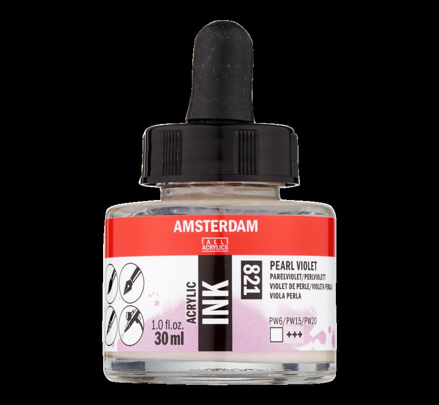 Acrylic Inkt Fles 30 ml Parelviolet 821