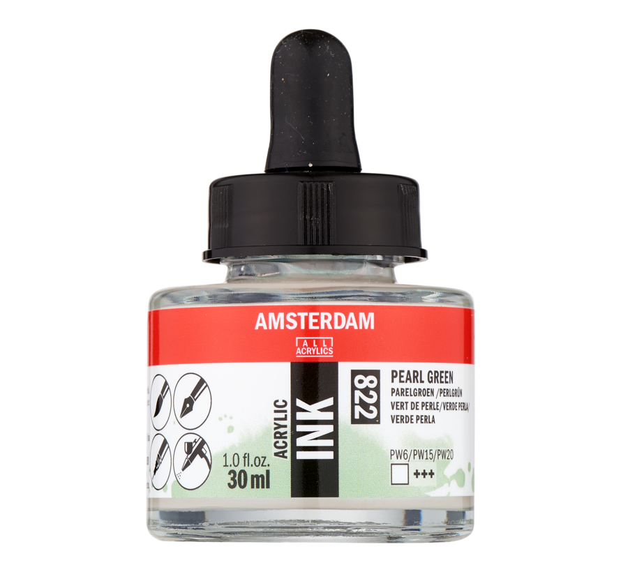 Acrylic Inkt Fles 30 ml Parelgroen 822