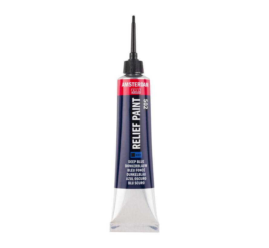 Contourverf Tube 20 ml Donkerblauw 502