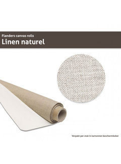 MUSEO Flanders Linnen op rol Naturel met lijm 210CM x 10M