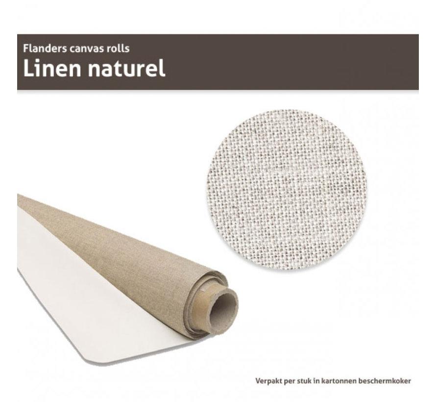 Flanders Linnen op rol Naturel met lijm 210CM x 10M