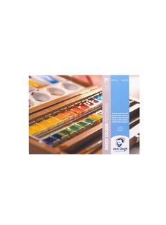 Van Gogh Aquarelverf postkaart blok wit 300gr 25 vellen