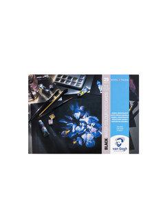 Van Gogh Aquarelverf postkaart blok zwart 360gr 25 vellen