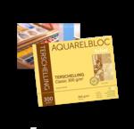 Aquarelverf blokken en vellen